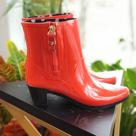 kate spade Shoes | Red Rain Boots